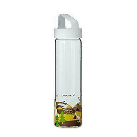 New Starbucks You Are Here Collection Glass Water Bottle, Colorado, 18.5 fl oz