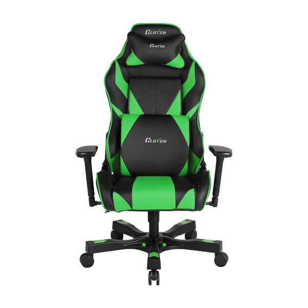 Clutch Chairz Premium Gaming/Computer chair, Black & Green, 1-pack