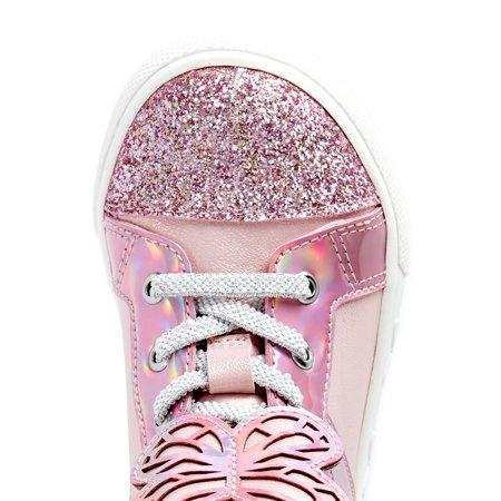 Wonder Nation Toddler Girls Critter Cutie High-Top Fashion Sneakers