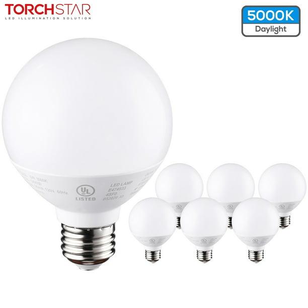Torchstar G25 Globe Led Light Bulb For, Bathroom Vanity Light Bulbs