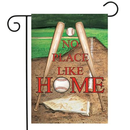 Bat Garden - No Place Like Home Spring Garden Flag 12.5