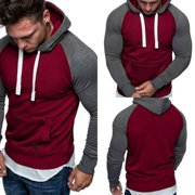 Mens Winter Slim Hoodies Warm Hooded Sweatshirt Coat Outerwear Sweater