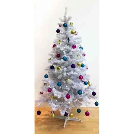 Homegear 6ft Artificial White Christmas Tree Xmas Decoration