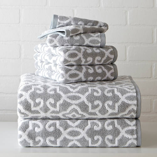 Better Homes and Gardens Thick and Plush Jacquard Bath Towel Collection