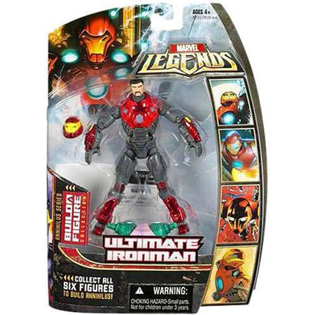 Marvel Series 16 Annihilus Ultimate Iron Man Action Figure [Helmet Off]](Ultimate Iron Man)