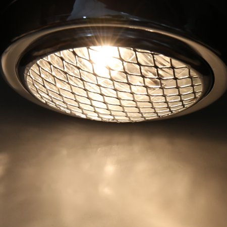 6.3inch Dia 12V 35W Silver Tone Yellow Light Headlamp w Black Bracket for Motorcycle - image 2 de 3