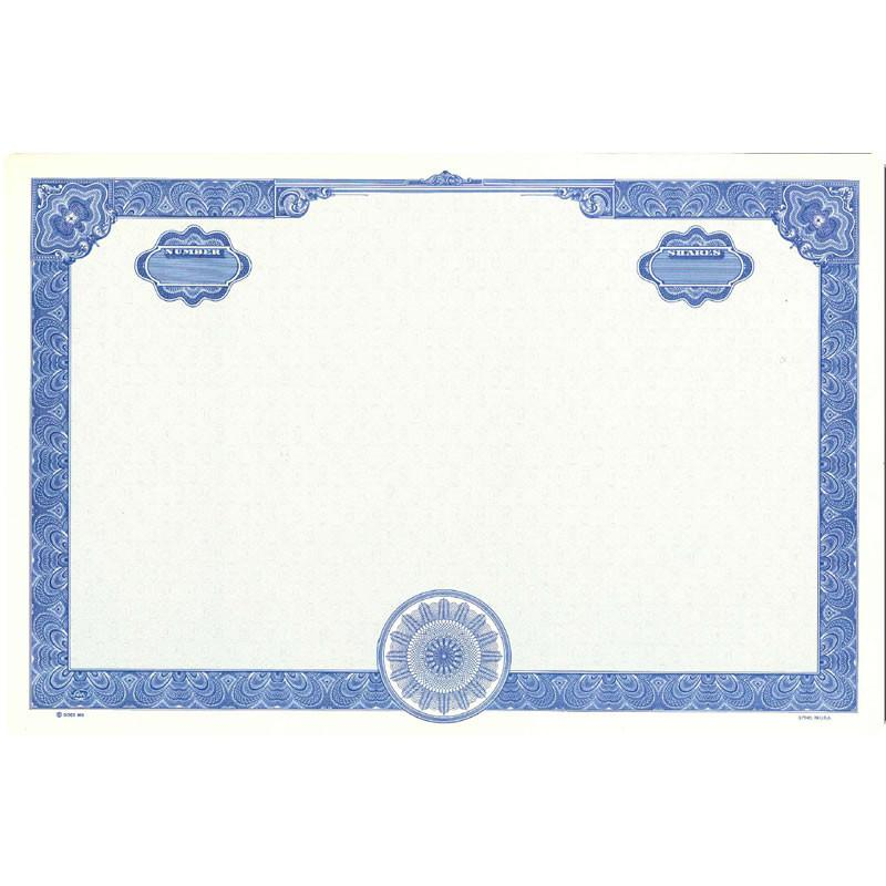 Goes 858 Blank Stock Certificate - Pack of 25