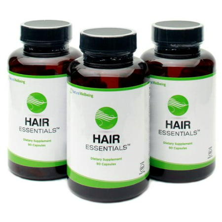 (Hair Essentials Natural Herbs and Vitamins Hair Growth Supplement for Women and Men, 270 Count)