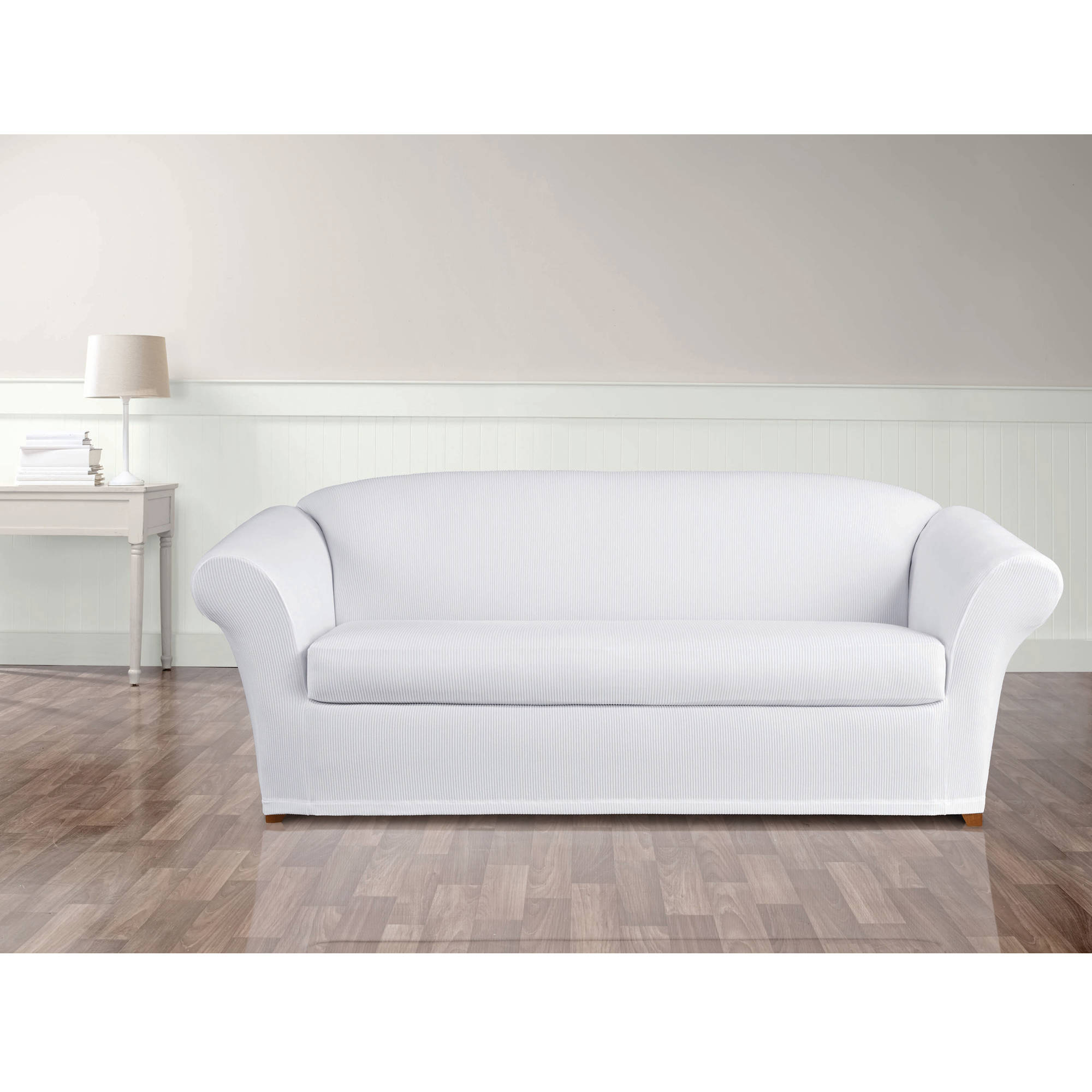 Sure Fit Stretch Seersucker 2 Piece Sofa Slipcover
