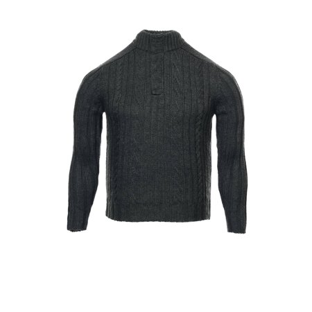 INC International Concepts Gray Cable Knit Half Zip Sweater , Size 2XLarge Cable Knit Zip