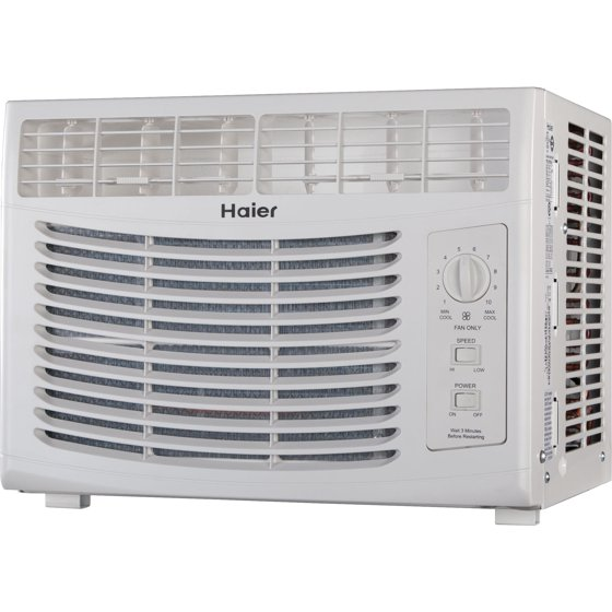 Haier HWF05XCL-L 5,000-BTU Compact Mini Room Window Air ... on