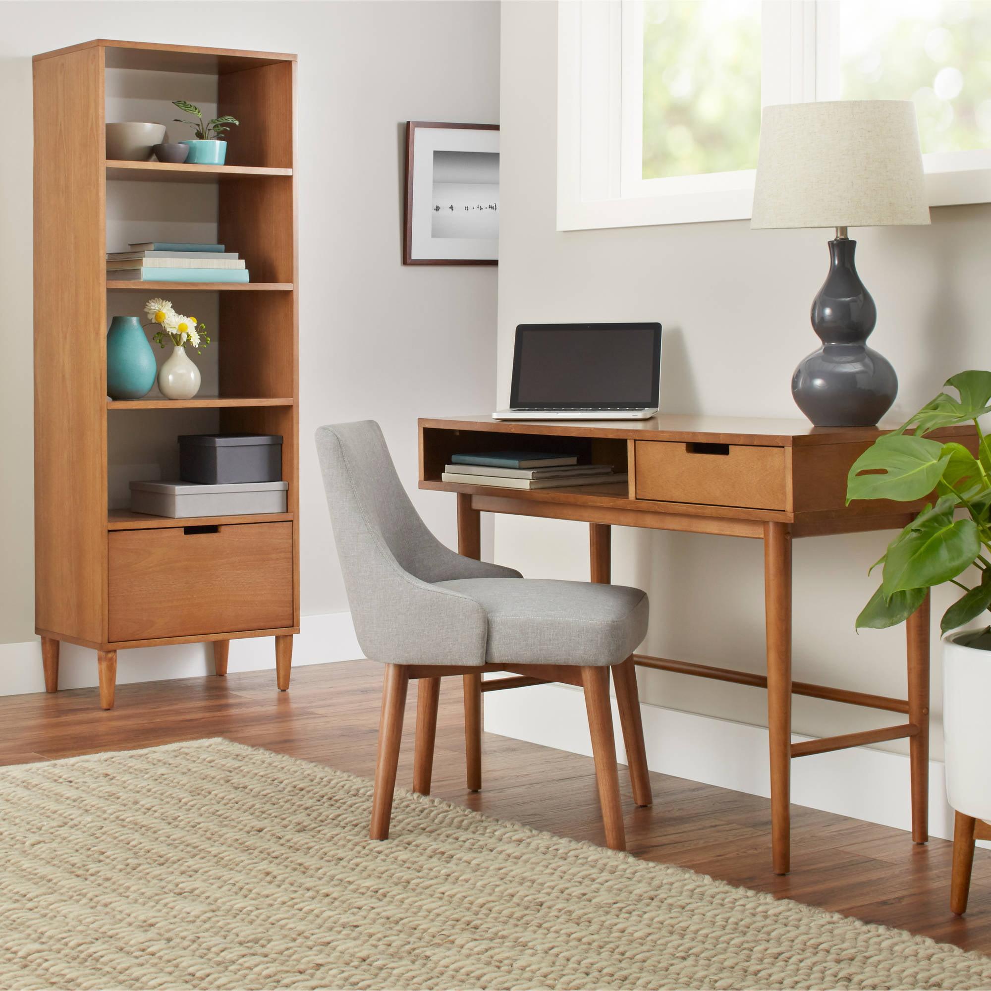 Image of: Better Homes Gardens Flynn Mid Century Modern Desk Multiple Colors Walmart Com Walmart Com
