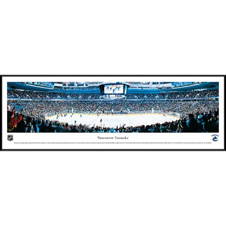 Vancouver Canucks - Center Ice at Rogers Arena - Blakeway Panoramas NHL Print with Standard Frame (Vancouver Canucks Memorabilia)