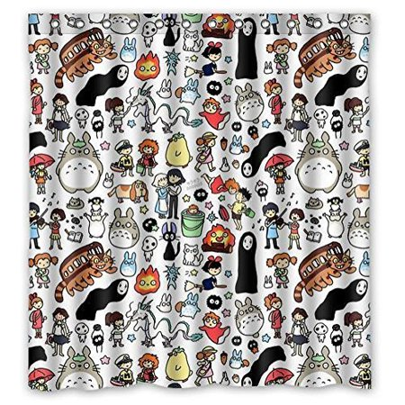 Ganma All Studio Ghibli Character Totoro Shower Curtain Polyester Fabric Bathroom Shower Curtain 60x72 inches](Studio Ghibli Happy Halloween)