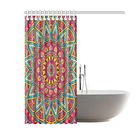 GCKG Ethinic Mandala Polyester Fabric Shower Curtain Bathroom Sets Mandala Home Decor Inches - image 1 of 3