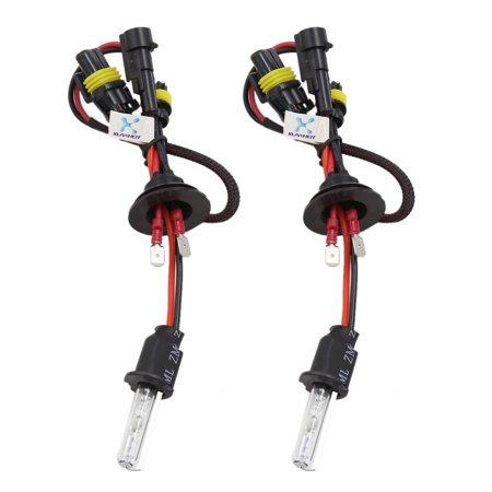 2 Pcs H3 6000K HID Xenon Headlight Fog Lights Lamp Bulbs for Car Vehicle ()