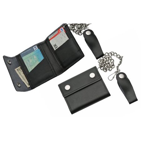 Medium Bi-Fold Biker Wallet, 4.25x3.75-Inch, 4.25 Inch closed length Baker Bi Fold Wallet