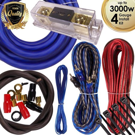 Complete 3000W 4 Gauge Car Amplifier Installation Wiring Kit Amp PK3 4 Ga Blue 4.5 average based on 2 product ratings 5  1 4  1 3  0 2  0 1  0 Would recommend   Good value   Good