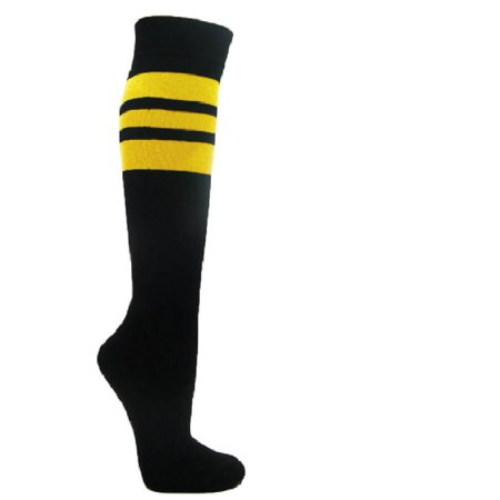 08c24fafd Couver Superior Quality Black Triple Stripes Baseball Softball Multi-Sport Knee  High Socks