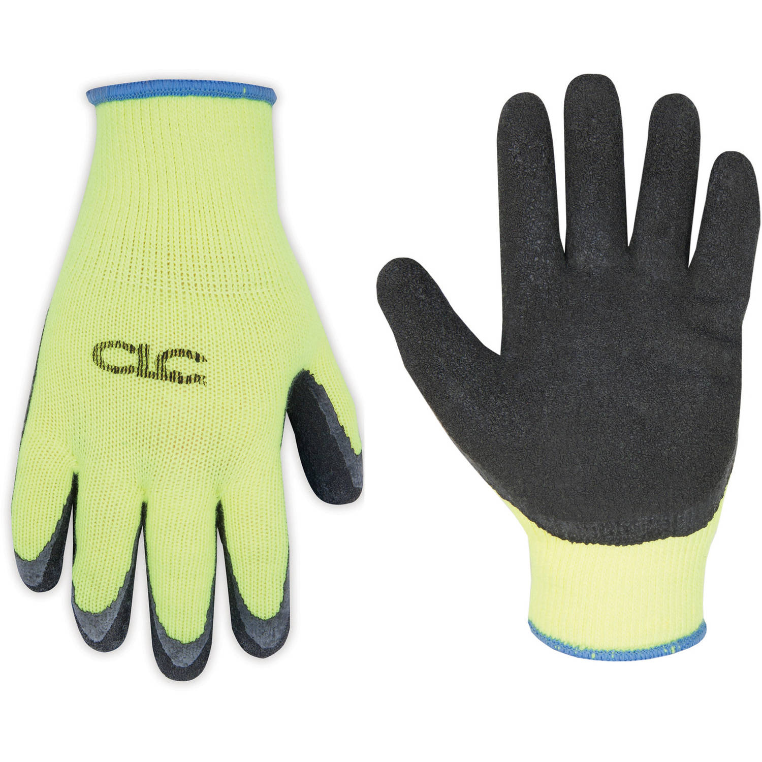 CLC Work Gear 2339M Medium Hi-Viz Cold Weather Latex Dip Gripper Gloves