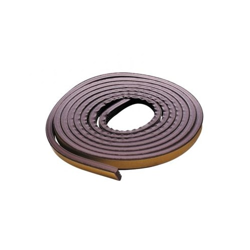 M-D Products 02550 17' Brown Extreme Temperature P-Profile Weather Strip