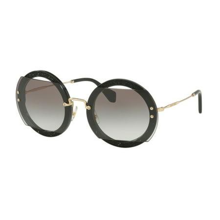 Sunglasses Miu MU 6 SS 1AB0A7 BLACK (Miu Miu Black Sunglasses)