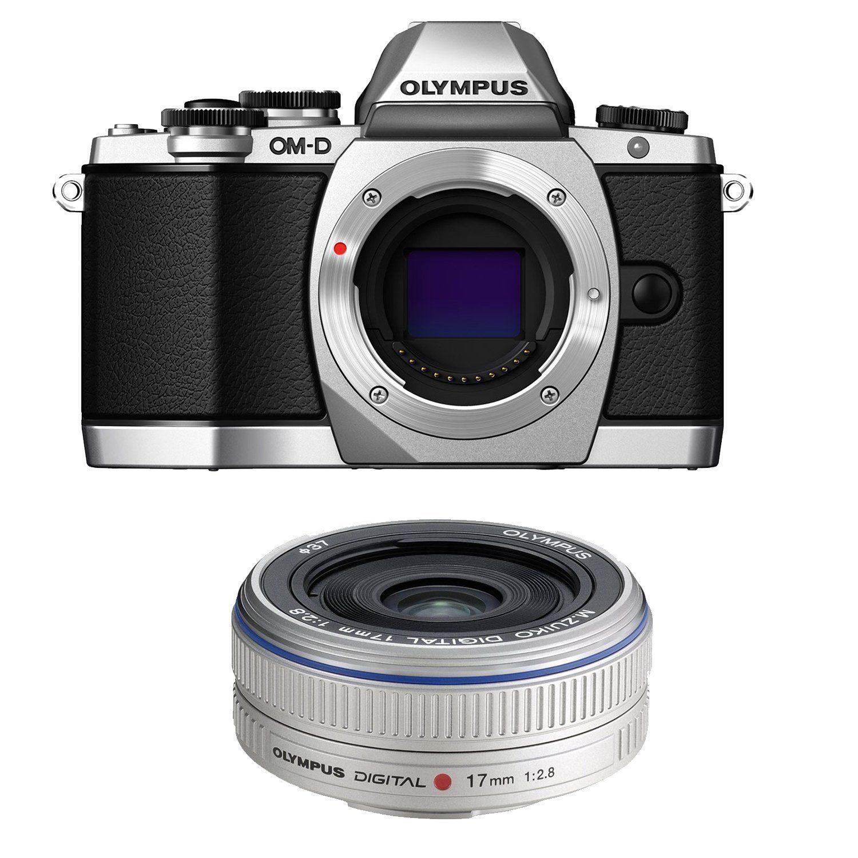 Olympus OM-D E-M10 DSLR Camera Silver + M.Zuiko 17mm Lens MANUFACTURER WARRANTY by Olympus