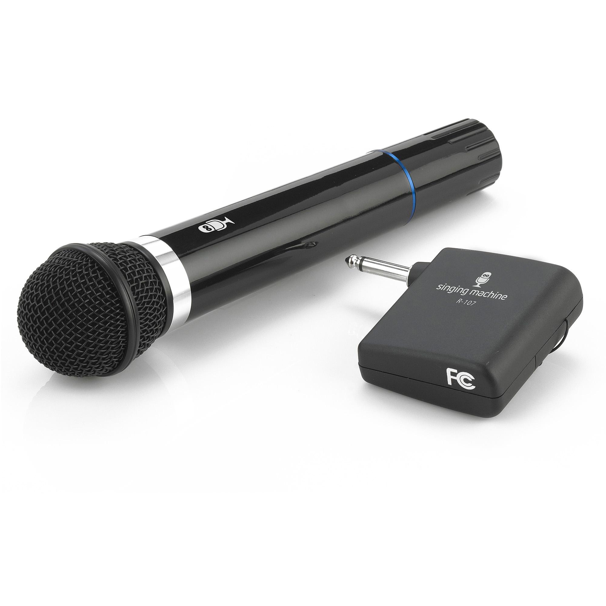 Singing Machine SMM107 Wireless Uni-Directional Dynamic Microphone