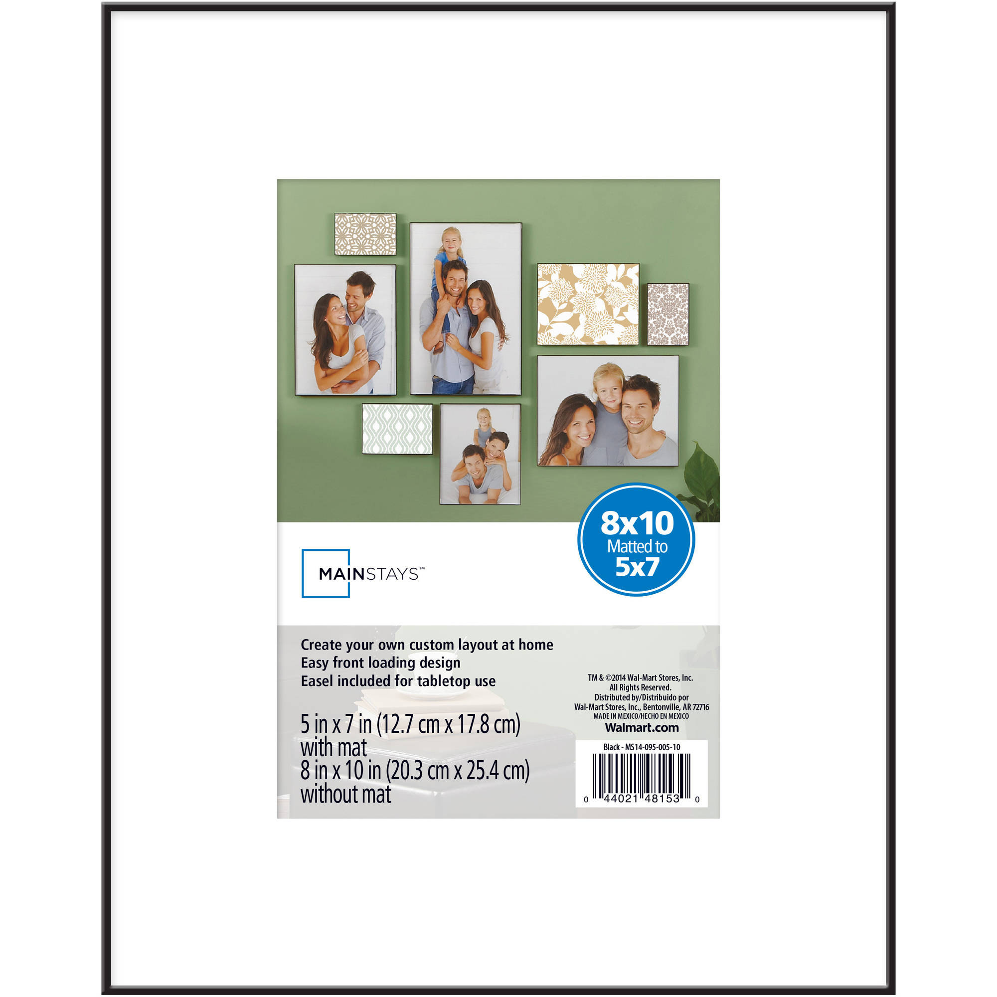 Mainstays Format 8x105x7 Frame Black Walmartcom