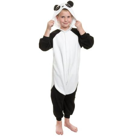 SILVER LILLY NEW Kids Panda Plush One Piece Halloween Costume - Full Body Panda Costume