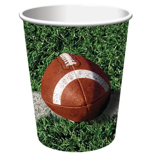 Club Pack of 96 Tailgate Rush Disposable Paper Hot and Cold Drinking Party Cups 9 oz.
