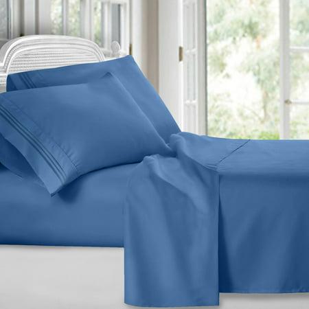 Egyptian Comfort 1800 Count 4 Piece Deep Pocket Bed Sheet Set ()