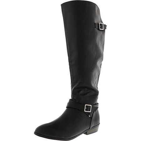 f00b2912c98 Material Girl Women s Capri Wide Calf Black Knee-High Boot - 6.5M ...