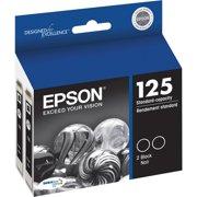 EPSON 125 DURABrite Ultra Black Dual Pack Standard Capacity Ink Cartridge
