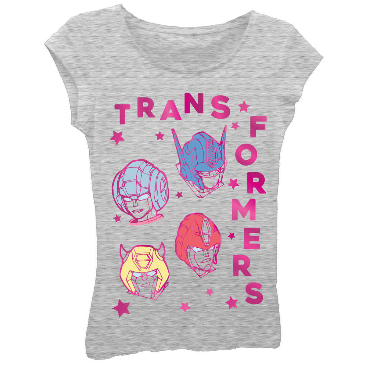 "Transformers Girls' ""Transformers"" Short Sleeve Graphic T-shirt With Pink Foil"