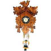 Black Forest Battery Operated Carved Wall Clock