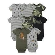 Gerber Baby Boys' Short Sleeve Onesies® Bodysuits, 8-Pack