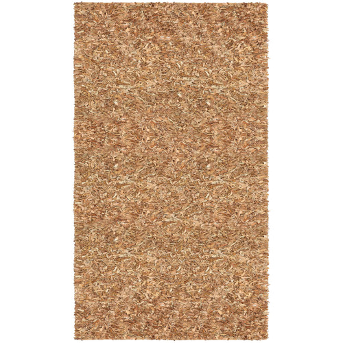 St. Croix Pelle Leather Dark Brown Area Rug