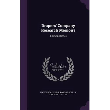 Drapers' Company Research Memoirs : Biometric