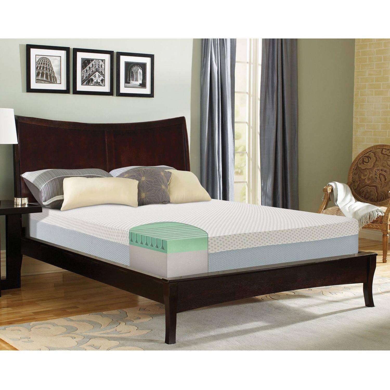 "Contura 9"" 1000 Firm Latex Foam Mattress Bed by Generic"
