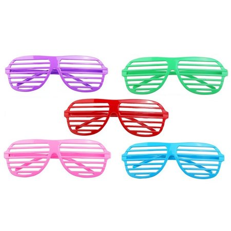 818e6168f59 48 Neon Shutter Shades Glasses - Birthday Party Favor Supplies - Walmart.com