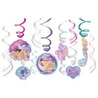 Barbie 'Dreamtopia Mermaid' Hanging Swirl Decorations (12pc)