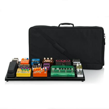 Gator GPB-XBAK-1 Black Aluminum Pedal Board; XL w/ Carry Bag