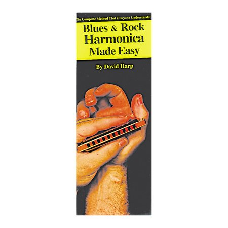 Music Sales Blues and Rock Harmonica Made Easy Compact Reference (Hurricane Harps Hot House Blues Harmonica Set)