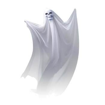 HANGING GHOST PROP - Ghost Writing Book Halloween Prop