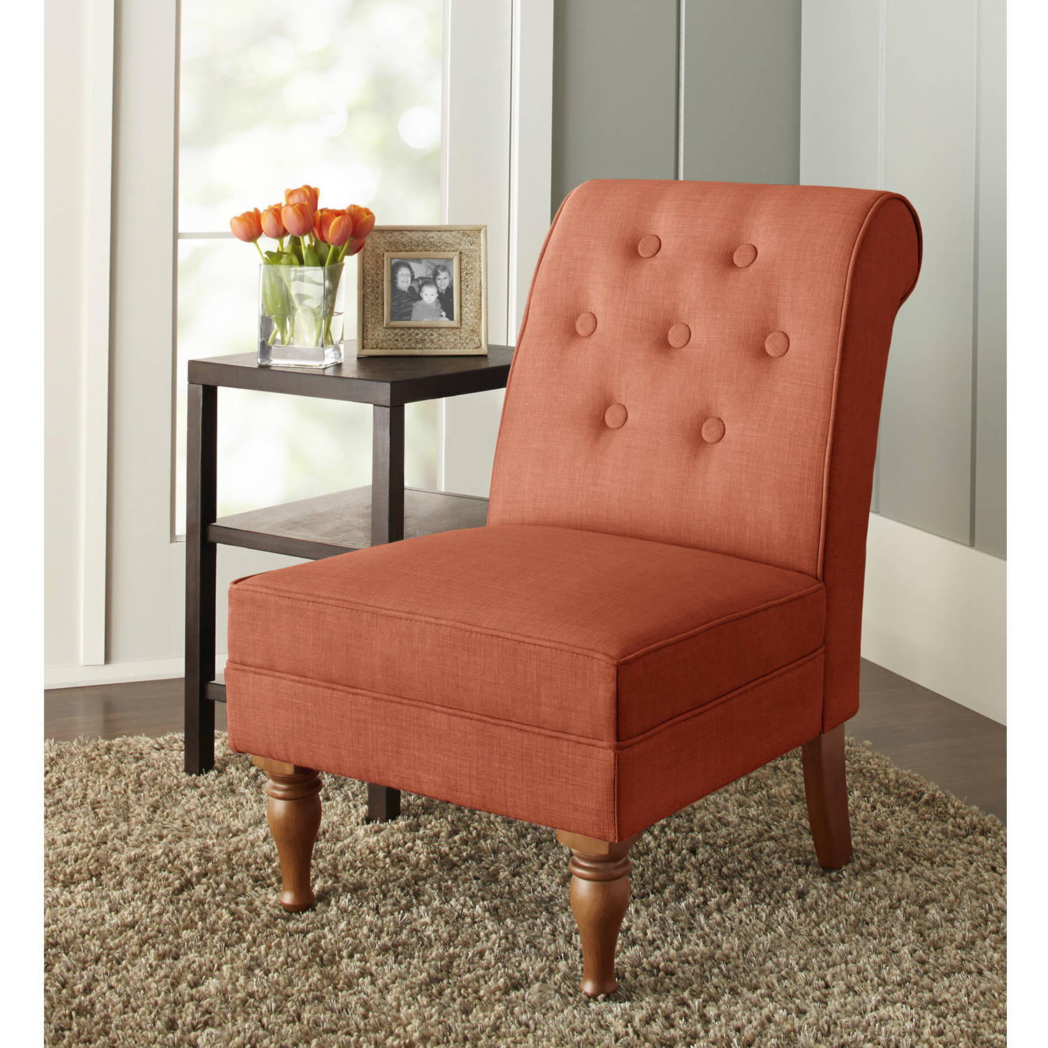 better homes and gardens colette tufted accent chair multiple colors walmartcom