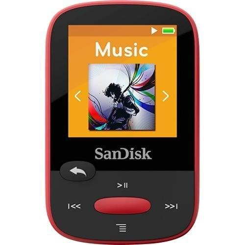 SanDisk Clip Sport SDMX24-004G 4 GB Flash MP3 Player - Red - FM Tuner - 1.4""