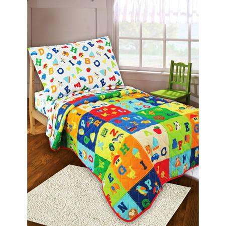 Discontinued Crayola Abc 4 Piece Toddler Bedding Set