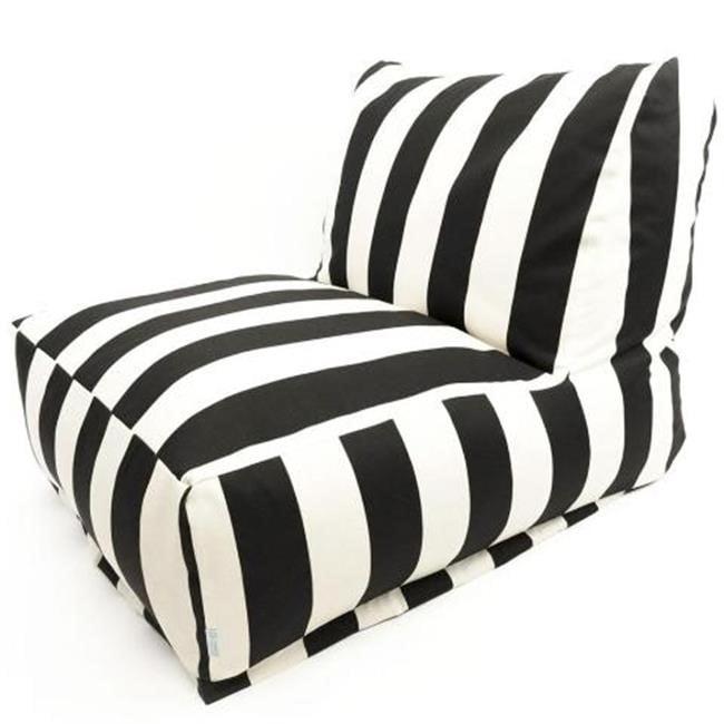 Majestic Home Black Vertical Stripe Bean Bag Chair Lounger