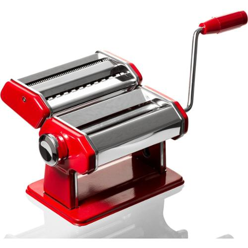 Professional Chef Stainless Steel Pasta Maker Red